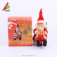 Kids toy moving drum Santa Claus with music christmas gift for children