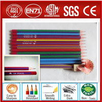 High quality HB red wood pencil with dipped end pass EM71 .ASTM-D4236.F963