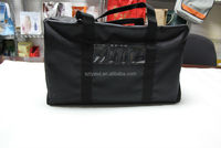 Black Polyester Cloth Pack Travel Tote Bag