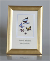Shinning gold bright color picture frames size 10x15 cm PVC photo frame moulding made in China