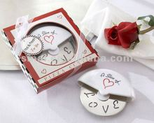 A Slice of Love Stainless Pizza Cutter Wedding Favors
