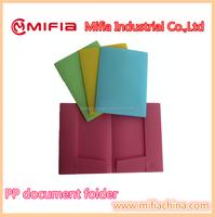 Cheap plastic promotional folder a4 size pp document file folders