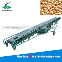 Good performance gain rubber belt conveyor machine