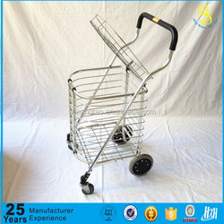 Trade Assurance portable rubber 4 wheels collapsible folding shopping trolley/cart