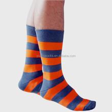 Mens striped knee hi 100% bamboo socks