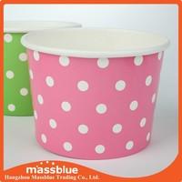Paper Frozen Yogurt Cup With Plastic Dome Lid