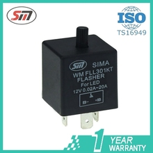 Auto LED Flasher electronics adjustable flasher 12V 24V 150W 20A WM FLL301KT