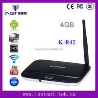 INST RK3188 28nm Quad core top set box dual core mx android smart tv box