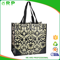 New design all kinds of foldable pp woven shopping bag in pouch