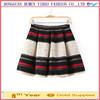 New style women stripe print short mini skirt high waist pleated skirt plus size clothing casual winter skirt