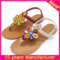 Manual produce cheap indian leather sandals wholesale sandal for girls