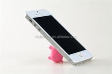 2015 new design mini suker cute pig shape mobile phone holder,cellphone holder,tablet pc stand