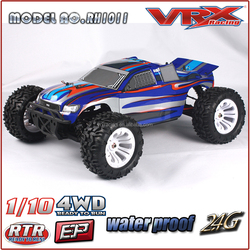 VRX Racing Brand 1/10th Electric Powered Truck, 4WD Brushed Electric Remote Control Car