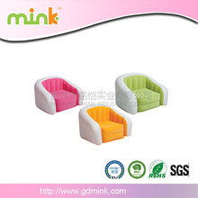 Customized new inflatable single flocked armchair gaming sofa seat lounger relaxing chair