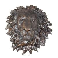 Bronze/brass lion head sculpture for wall decorative