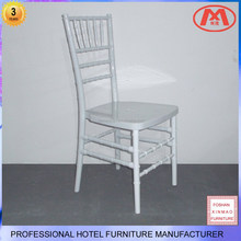 XM-CH031 Hotel wedding resin white chiavari chair