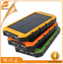 Ultra Slim Portable Solar Battery Charger 10000mah For Mobile