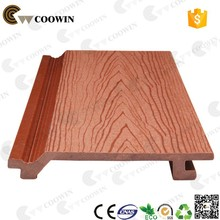 Wood plastic composite embossed wall siding