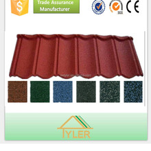 First class against heavy rain colorful stone coated metal roof tile