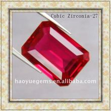 Red Rectangle Cubic Zirconia Cheap Gemstones Jewelry/Synthetic Cubic Zirconia Wholesale