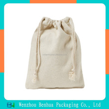 Factory directly supply nature eco-friendly drawstring cotton gift bag