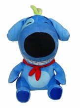 Electric Talking And Walking Plush Stuffed Black And Blue Dog Toys
