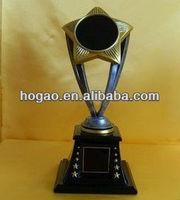 Star insert resin soccer figure trophy