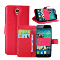 Wholesale Mobile Phone Leather Flip Case For Alcatel One Touch idol X