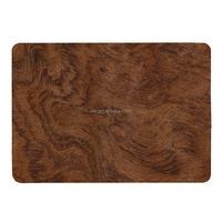 Wooden Pattern Rubberized Plastic Hard Case for Macbook Pro 13 inch