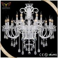 Factory Sale!! Hanging Decoration Modern Crystal wedding decoration plastic chandeliers
