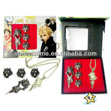 Wholesale Anime Final Fantasy Ring Necklace set of 5 pcs
