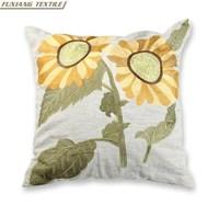 Plain Covers Cotton Sunflower Linen Deluxe Massager Cushion