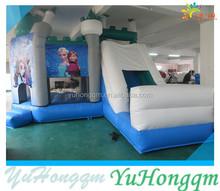 Frozen Castle Inflatable Frozen Princess Bouncy House For Children PVC Games