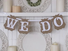 WE DO Decorative Word Signs Cheap Wedding Stage Decoration and Supply