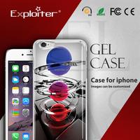 Hot sale pc handphone plastic material crystal case for iphone plus