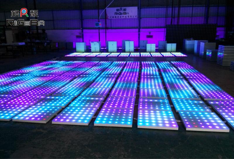 Portable Dance Floor With Lights : Best price colorful dance floor dmx led light