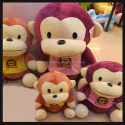 hot sale baby monkey toy soft animal with big head