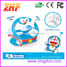 2015 novelty cartoon cat electronic charger fan,rechargeable portable fan,charger fan price