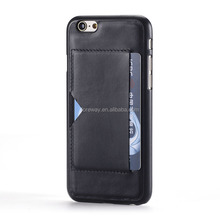 For iPhone 6 Card Slots Back Hard Case Leather Case For iPhone 6 plus