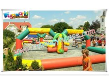 Colorful inflatable race track sport games spo-241