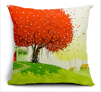 2015 china Wholesale Factory Directly of Alibaba sell well Healing Vietnam landscape square cotton pillow cases