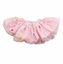 Romantic tutu fluffy tutu skirt with ribbn for kids lace tutus skirt