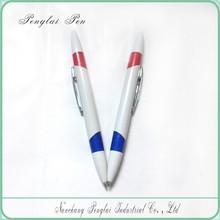 2 ink colors Multi colour pen, promotional 2 in 1 pen