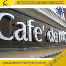 China supplier white composite stainless steel shop sign lettering