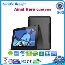 10.1 pulgadas Ainol Hero II Quad core tablet Android 4.1 NOVO 10 G+ G IPS corteza A9 1.5GHz 1GB RAM familia 16GB WiFi HDMI