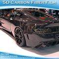 venta al por mayor fábrica de producir 5d negro brillante etiqueta de fibra de carbono del coche abrigo