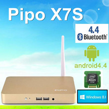 PIPO X7s Dual OSquad core Mini PC TV Box Tablet Windows8.1 + Android 4.4 2GB/32GB Bluetooth 4.0 Wifi Multi-Language Media Player