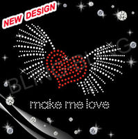 Valentine hot fix rhinestone cool iron on patches