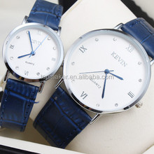 Saphire Leather band lover watch classic roman style