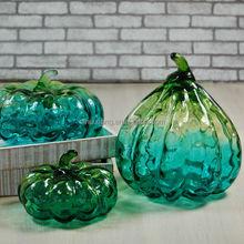 2015New Arriavl Wholesale Halloween glass Pumpkin Decoration